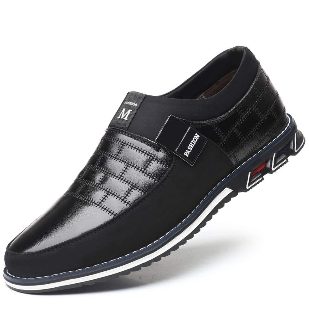 LIEBE721 Los Zapatos Casuales de Visten Zapatos vers/átiles Zapatos Antideslizantes de los Hombres duraderos Elegantes y c/ómodos Zapatos maduros