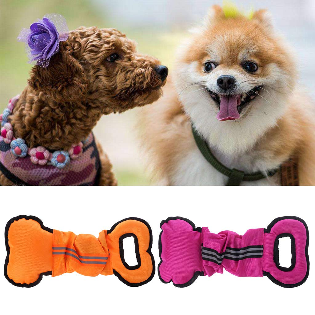 Kimnny Pet Dog Pet Toy Pet Dog Toys for Aggressive Chewers Dog Interactive Pull Chew Toy Rope Ball Tug Hot Pink