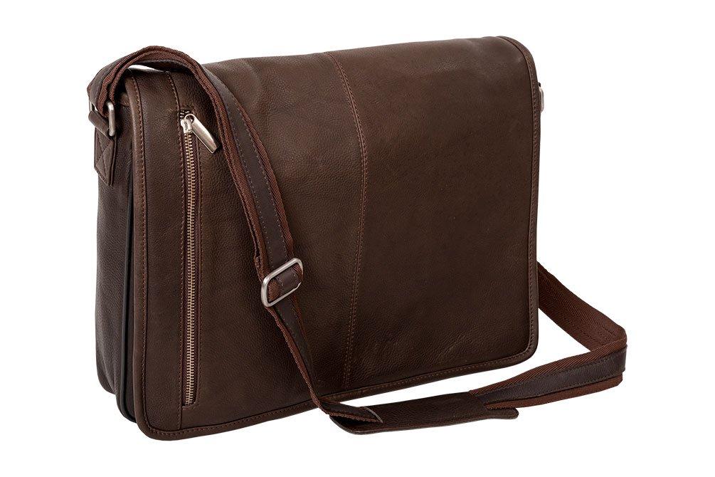 Alpenleder Messenger Bag ATLANTA Brandy - Designed in Germany - Pure Craftsmanship - by ALPENLEDER