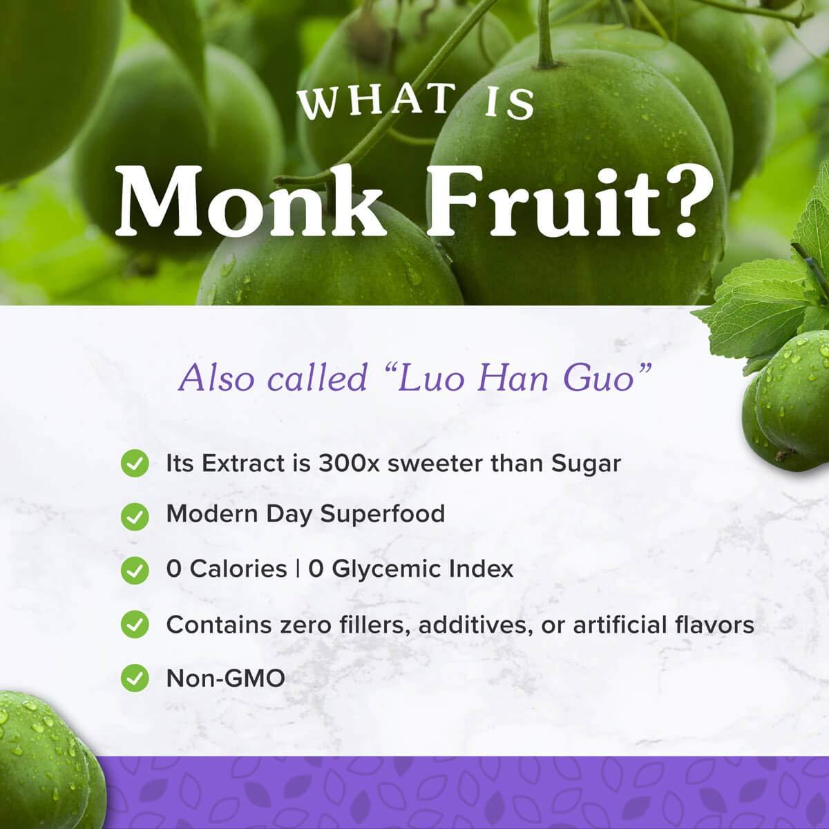 Amazon com: NuNaturals All Natural Pure Monk Fruit Extract Sugar