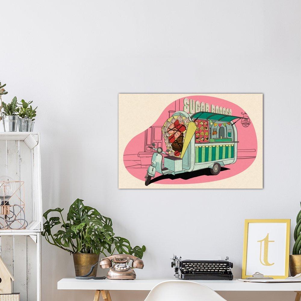 0.75 by 40 by 60-Inch iCanvasART 3-Piece Sugar Boogar Canvas Print by DarkLord