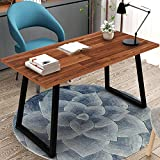 Computer Desk, Tribesigns 55'' Rustic Writing Desk with Heavy-Duty Metal Base, Industrial Vintage Home Office Desk Works As Study Table Or PC Laptop Table(Autumn Oak.)