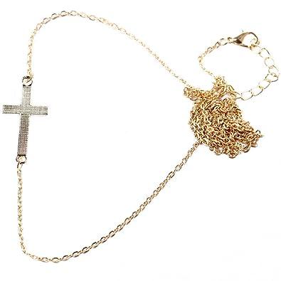 2ac888b751c BODYA Sexy Superbe chaîne de tour de hanches en or avec croix pour femme