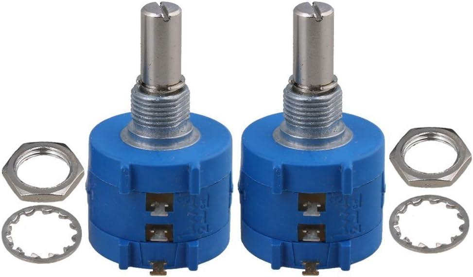 Cnbtr Bleu 3590s-2 501l variable r/ésistance de pr/écision potentiom/ètre 500/Ohm Wirewound Lot de 2