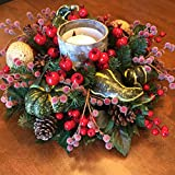 Christmas Candle Centerpiece, Holiday Home Decor, Holiday Candle Centerpiece, Christmas Floral Arrangement with Candles, Christmas Decoration, Candle Floral Arrangement