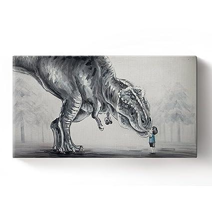 Brontosaurus Dinosaur Art Print Watercolor Painting For Kids Children Nursery