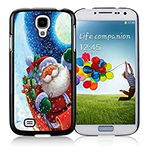 Individualization Samsung S4 TPU Protective Skin Cover Santa Claus Black Samsung Galaxy S4 i9500 Case 9