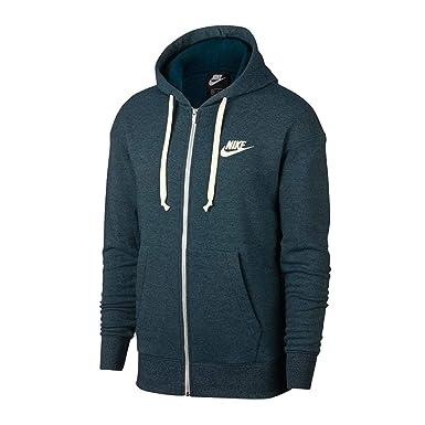 a0af04bb8 Nike Men's M NSW HERITAGE HOODIE FZ Sweatshirt, Nightshade/HTR/(sail)