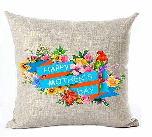 Feliz día de la madre flores planta la mejor mamá algodón ...