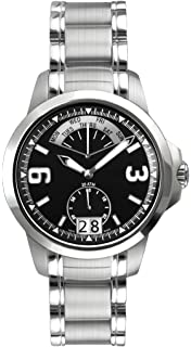 Belair Swiss Made Retrograde 20 ATM Mens Black Dial Watch