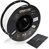 OVERTURE PLA Filament 1.75mm with 3D Build Surface 200mm × 200mm 3D Printer Consumables, 1kg Spool (2.2lbs), Dimensional…