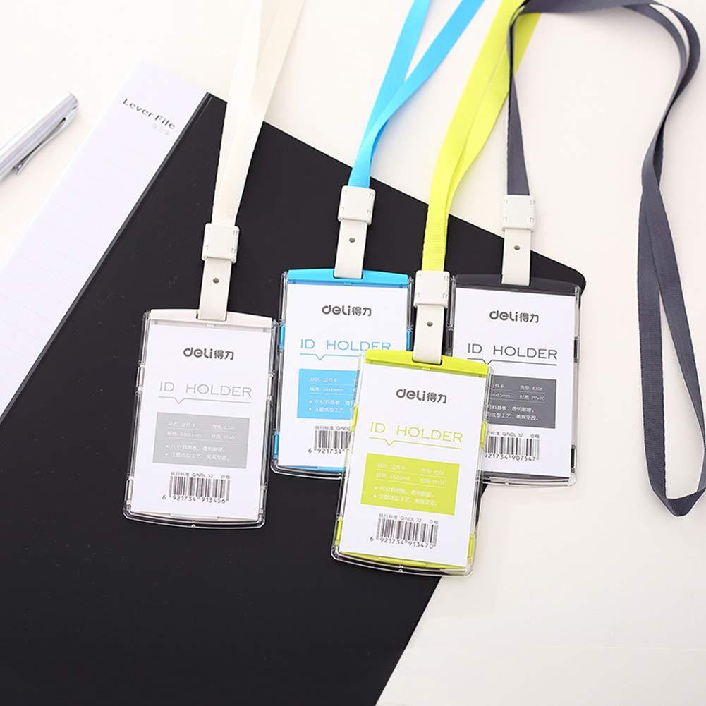 custodia per passaporto con cordino da collo blue porta tessere badge biglietti da visita XuBa