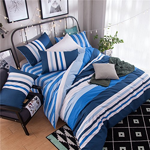 100% Cotton Bedding Duvet Cover Set 4pcs/set Duvet Cover No Comforter Flat Sheet Pillow Case QF Queen 78