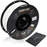 OVERTURE PLA Filament 1.75mm with 3D Build Surface 200mm × 200mm 3D Printer Consumables, 1kg Spool (2.2lbs), Dimensional Accu