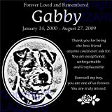 Lazzari Collections Personalized Jack Russell Terrier Pet Memorial 12''x12'' Engraved Black Granite Grave Marker Head Stone Plaque GAB1