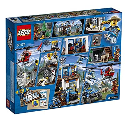 LEGO City Mountain Police Headquarters 60174 Building Kit (663 Pieces): Toys & Games