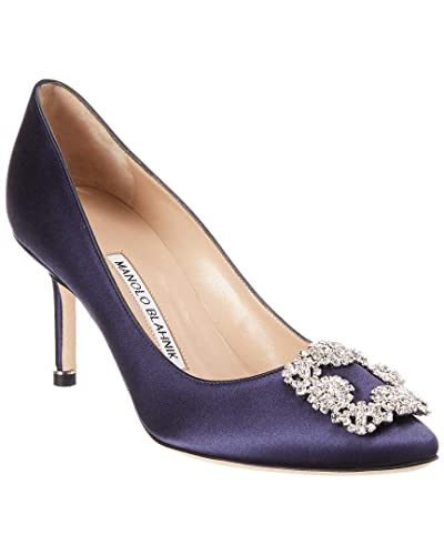 3f52d2e45 Amazon.com | Manolo Blahnik Hangisi 70mm Pump - Navy | Pumps