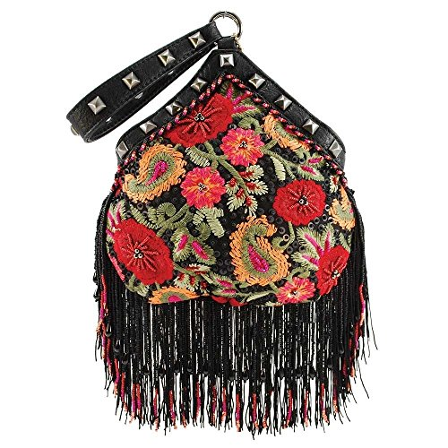 MARY FRANCES Bohemian Groove Embellished Wristlet Handbag