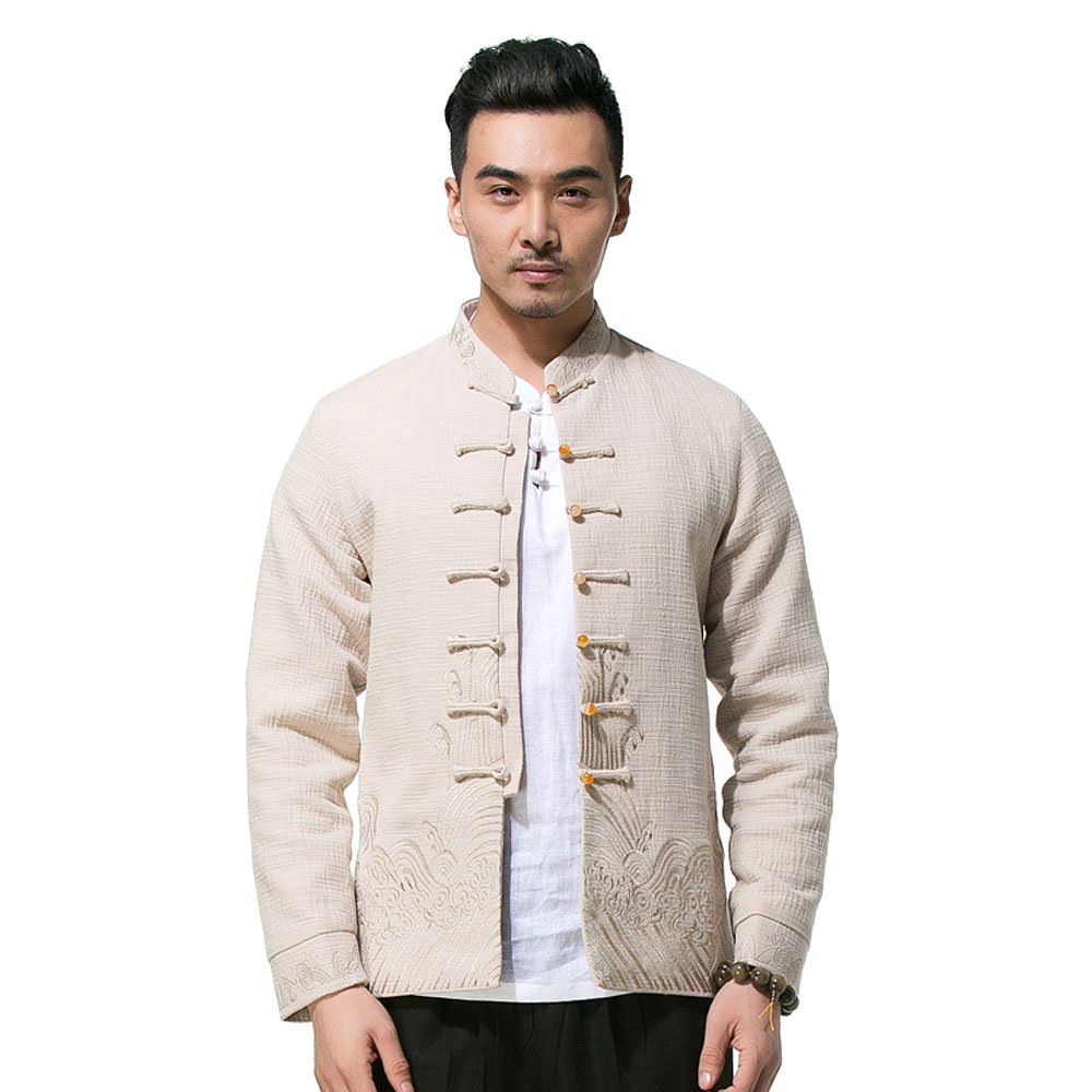New Style Men's Chinese Traditional Tang Suit Spring And Autumn Kung Fu Fashion Coats