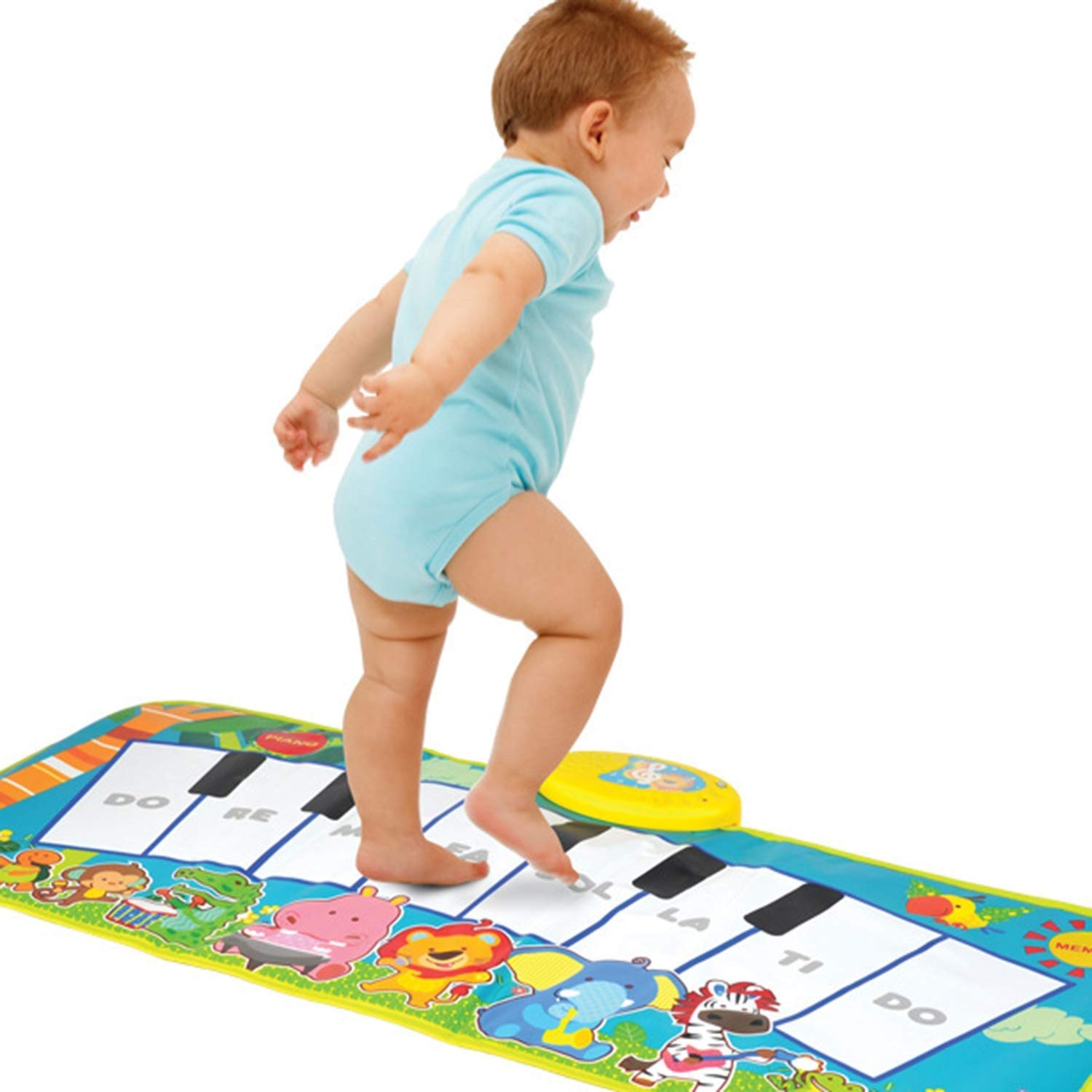 Sunny Creative Piano Game Pad, Children's Room Decoration Early Education Toy Music Lamp Crawling Mat Multi-Function Modern Fashion (Color : A) by Sunny (Image #1)
