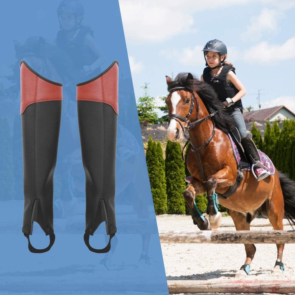 GOTOTOP Demi-Chapeau d/équitation 1 Paire de gu/êtres d/équitation pour Enfant 3 Tailles