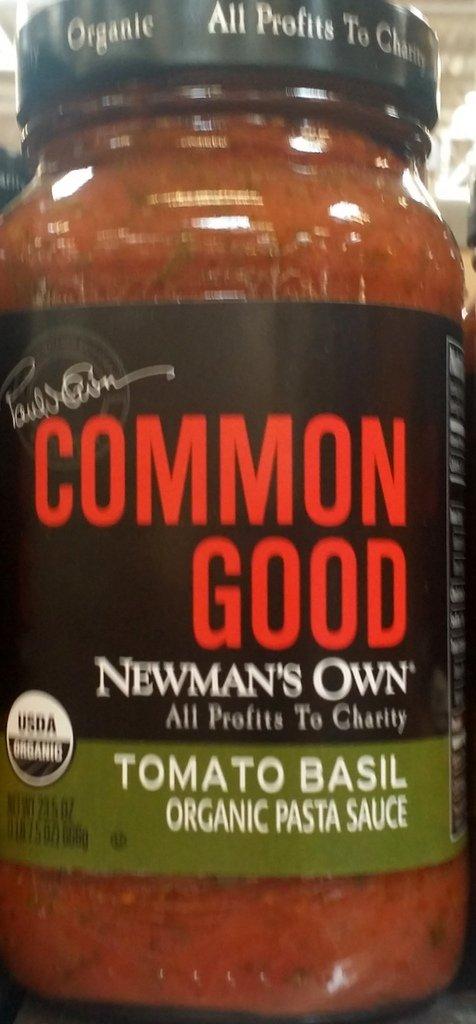 Newman's Own Common Good Tomato Basil Organic Pasta Sauce 23.5 Oz (Pack of 2)