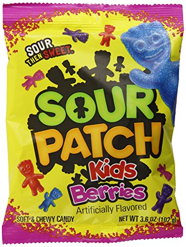 Sour Patch Kids Sweet and Sour Gummy Candy, Berries, 3.6 Ounce (Pack of 12)