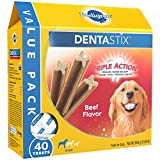 PEDIGREE DENTASTIX Beef Flavor Large Treats for Dogs - Value Pack 2.08 Pounds 40 Treats