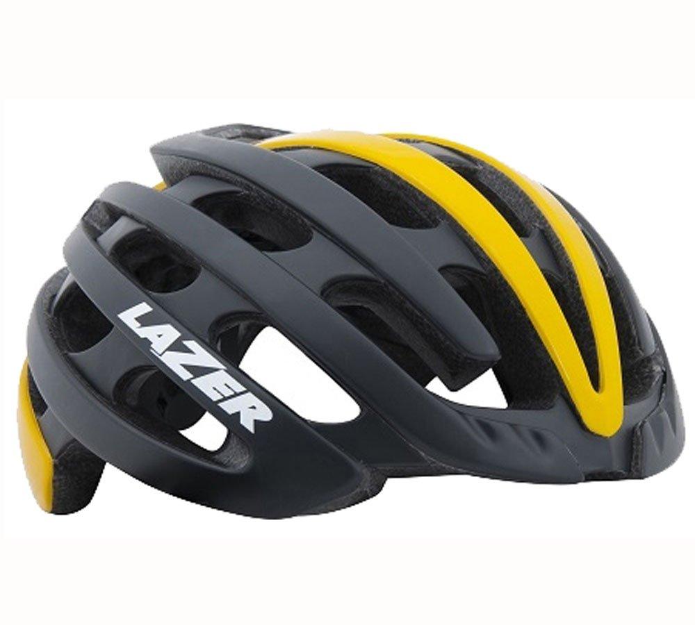 LAZER(レイザー) Z1 (マットブラックイエロー L) ロードヘルメット Large  B07D3PD4KF