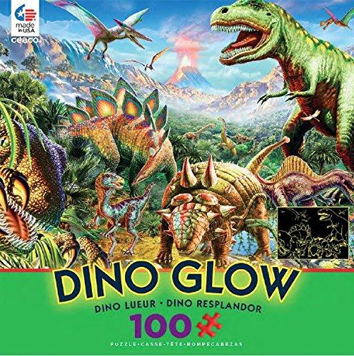 Ceaco Dino Glow In The Dark Dino Party Puzzle (100 Piece)