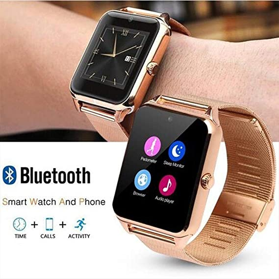 Smiela Bluetooth Smart Watch,Smart Watch Phone Pedometer Sedentary Remind Sleep Monitor Remote Camera