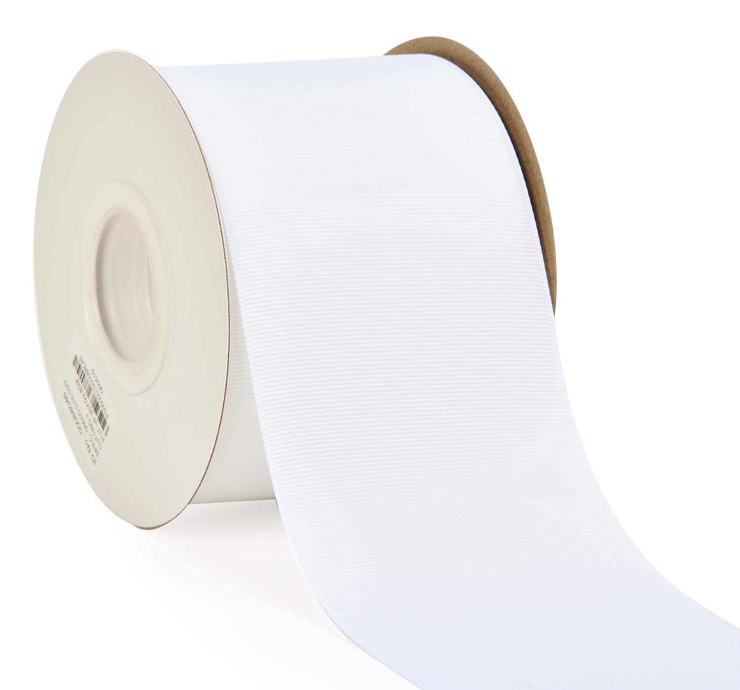 YAMA 3 inch Solid Grosgrain Ribbon Roll - 25 Yards for Gift Wrapping Ribbons, White