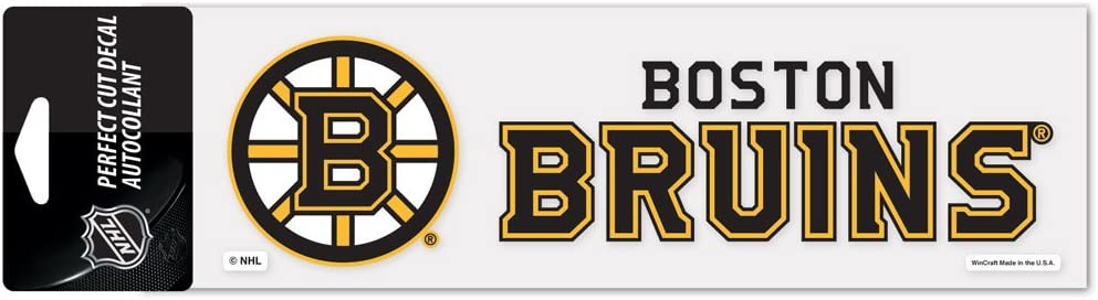 "WinCraft NHL Boston Bruins WCR98485014 Perfect Cut Decals, 3"" x 10"""