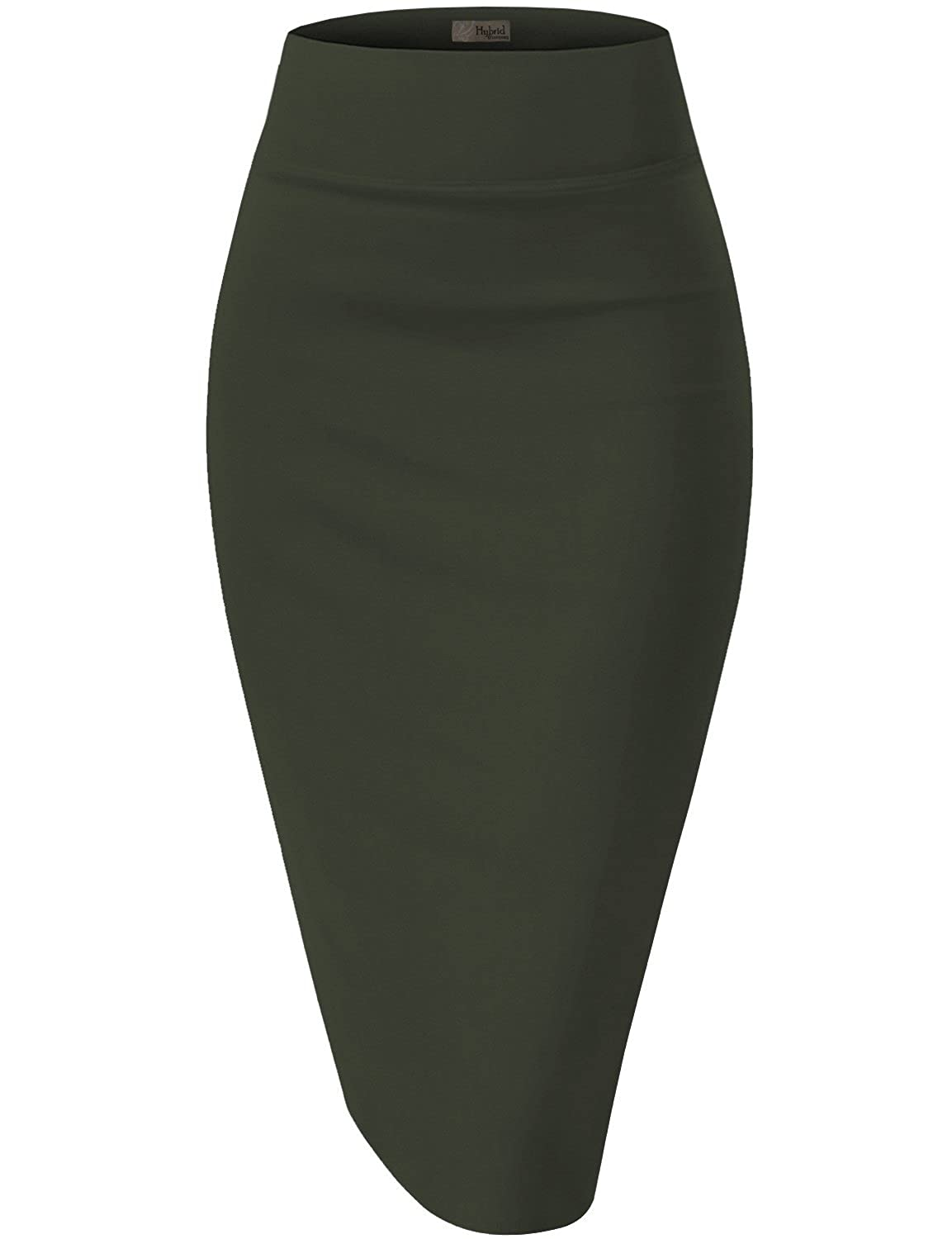 HyBrid & Company Womens Premium Stretch Office Pencil Skirt Made in USA