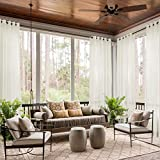dark grey curtains next ChadMade Indoor Outdoor Solid Sheer Curtain Nickel Grommet Beige 120