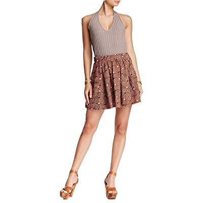 Free People Women's So Much Sun Skirt, BlackBerry Combo, Size Small at Women's Clothing store