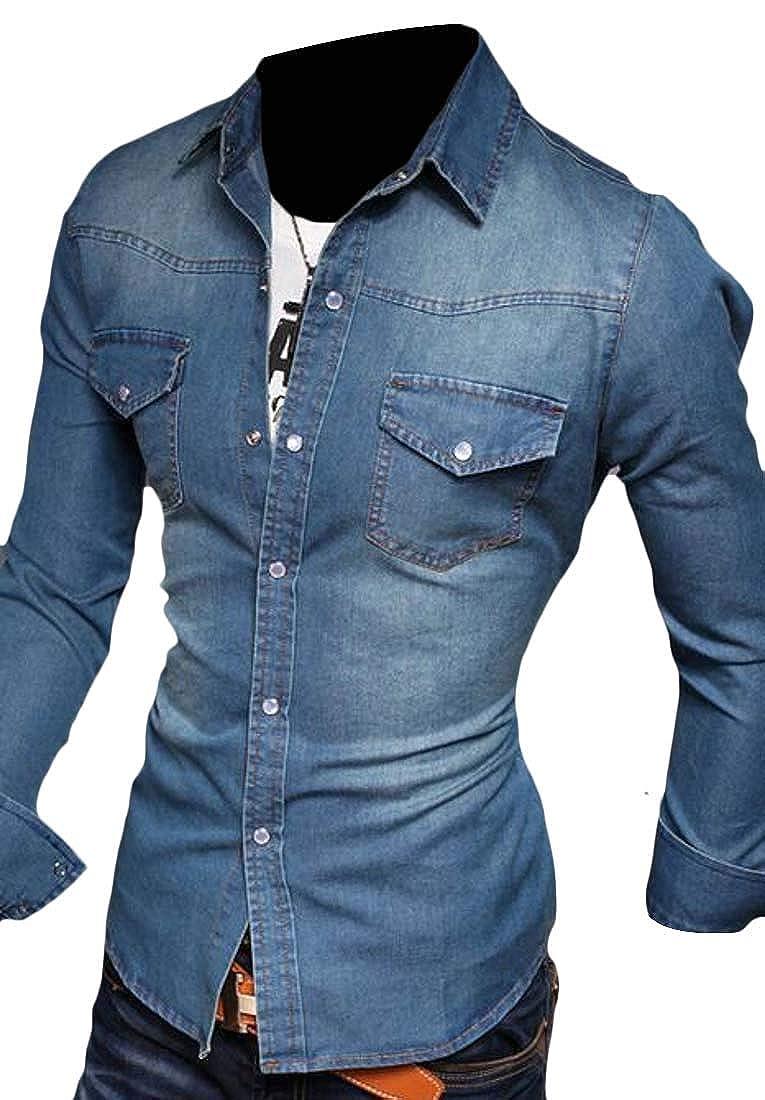 RRINSINS Mens Linen Shirt Casual Button Down Long Sleeves Lightweight Basic Tops