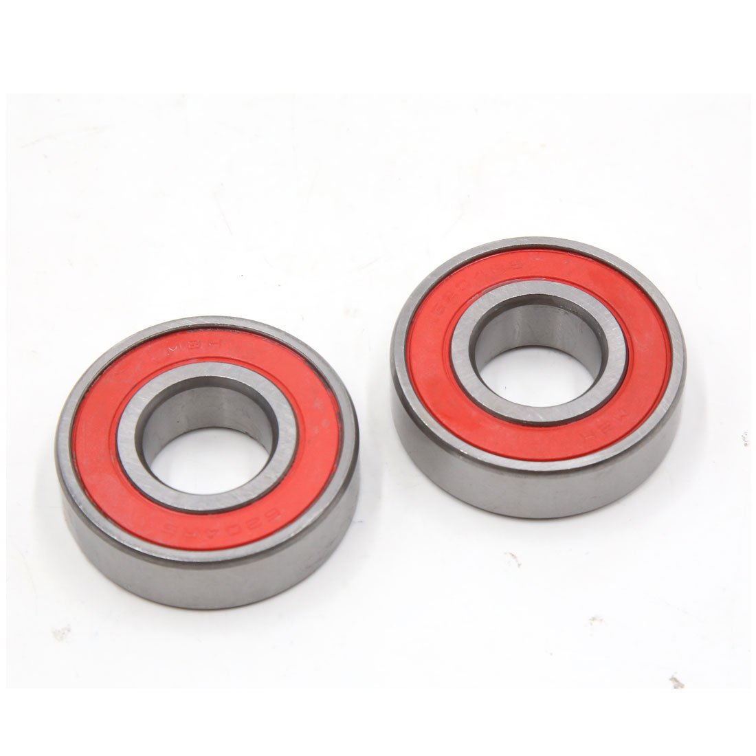 uxcell 10pcs 6204 2RS Sealed Deep Groove Ball Bearing 46 x 23 x 15mm for Motorcycle