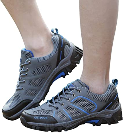 Fashion Mens Sneaker Athletic Casual Outdoor Sport Hiking Lace Up Trainer Shoes