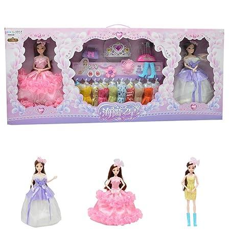 Quiet.T 17pz Fashion Ropa y Esencial para muñecas Barbie ...
