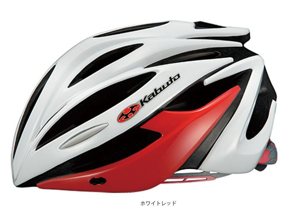 OGK ALFE(アルフェ) ヘルメット 着脱バイザー付 ホワイトレッド XS/S  B01H1CHN7W
