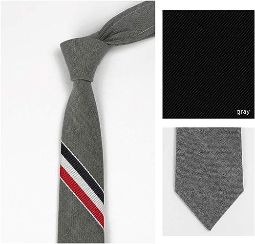 JXYNB Corbata de Tres Colores de 5 cm de Ancho para Hombres ...
