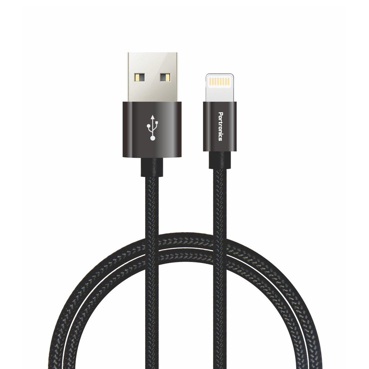 Portronics POR-792 Konnect Pro Data Cable - 3.9 Feet