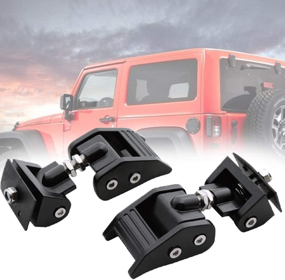 Stainless Steel Latch Locking Hood Catch Kit for 2007-2018 Jeep Wrangler JK JKU 2 Door and Unlimited 4 Door