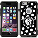 Coveroo Commuter Series Case for iPhone 6/6s - Retail Packaging - Brooklyn Nets - Polka Dots Design