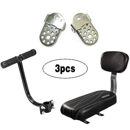 Bicycle Bike Rear Seat Cushion Rack Armrest Footrest Set Back Seat Child Safety