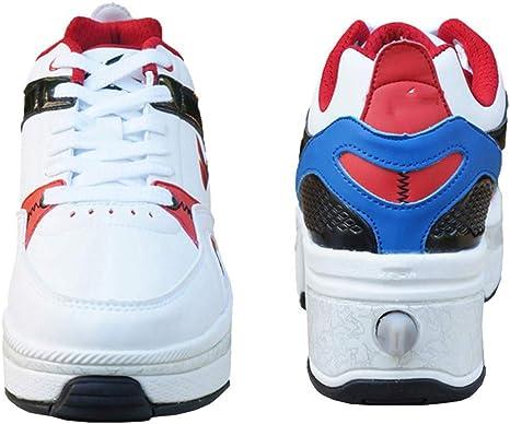 Dbtxwd Zapatos de Ruedas para Mujeres, Zapatos de Skate con Ruedas, Zapatillas Deportivas para niñas, niños, niños, Regalo para Principiantes: Amazon.es: Deportes y aire libre