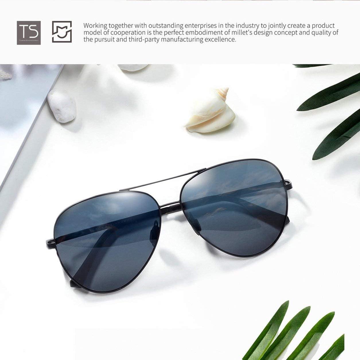 Dailyinshop Gafas de Sol polarizadas Xiaomi Mijia TS Protección UV400 Lentes de Espejo Solar Gafas para Viajes al Aire Libre Versión Global Unisex (Color: Gris)