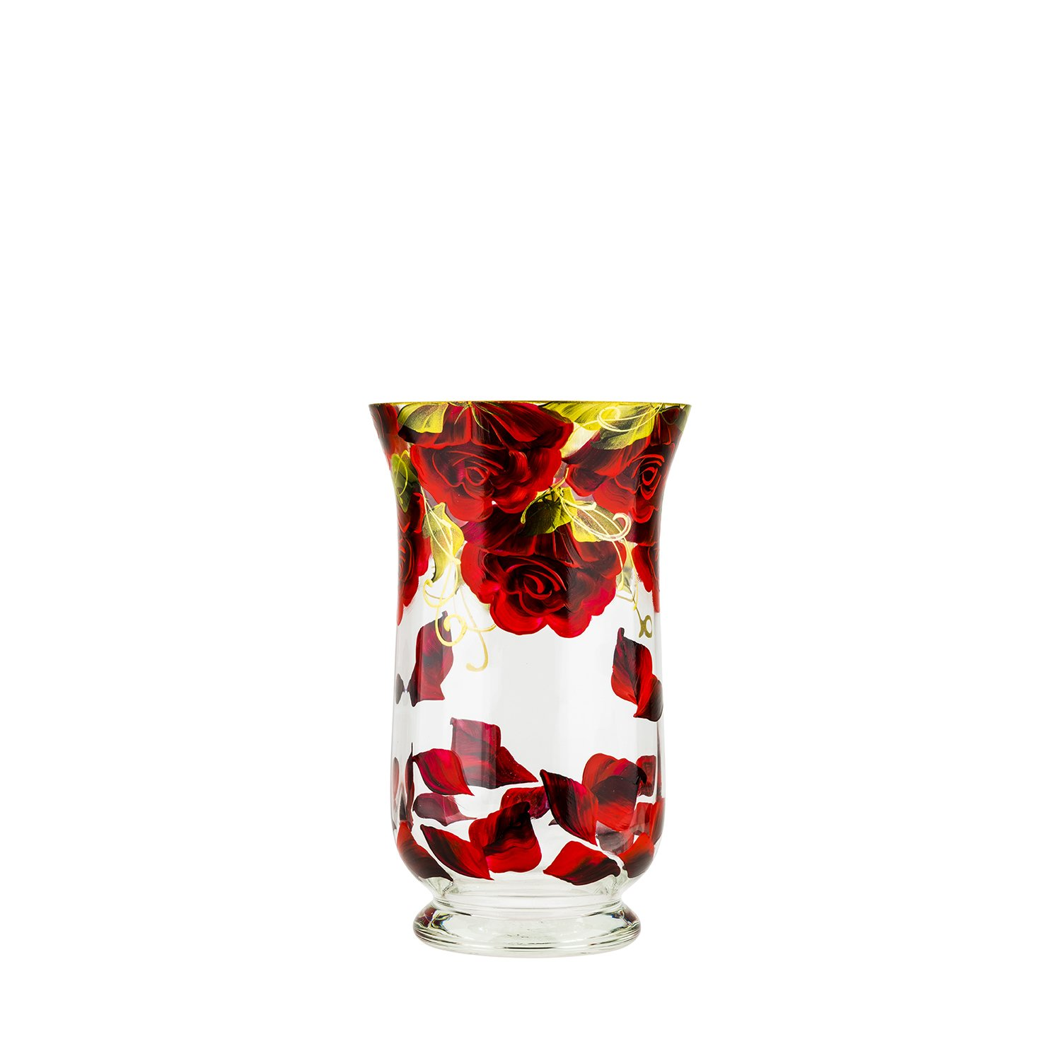 Victoria Bella Falling Red Rose-150 Vase by Jozefina Atelier