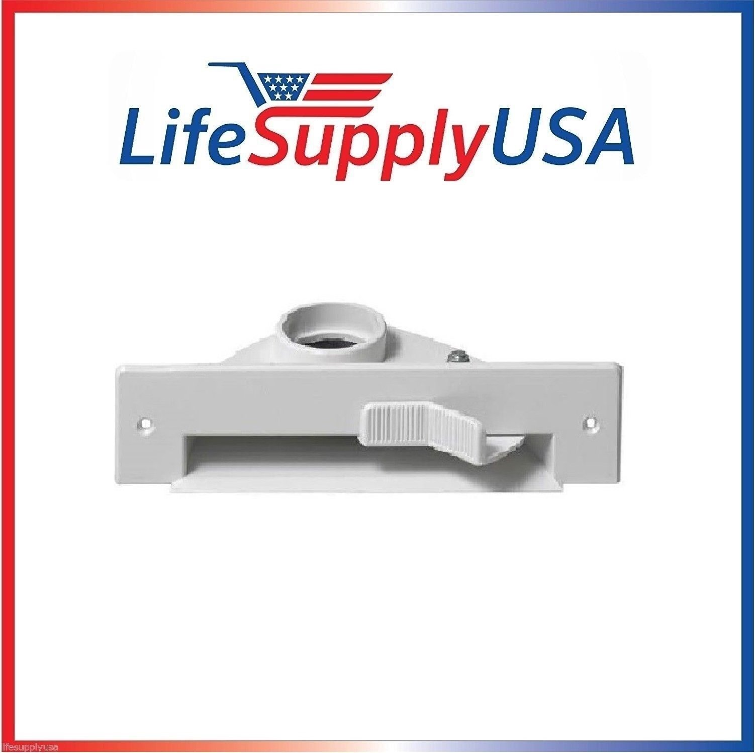 LifeSupplyUSA New Central VAC PAN Vacuum Automatic Dustpan SWEEP INLET VALVE in WHITE by